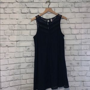 Xhilaration Blue Lace Dress